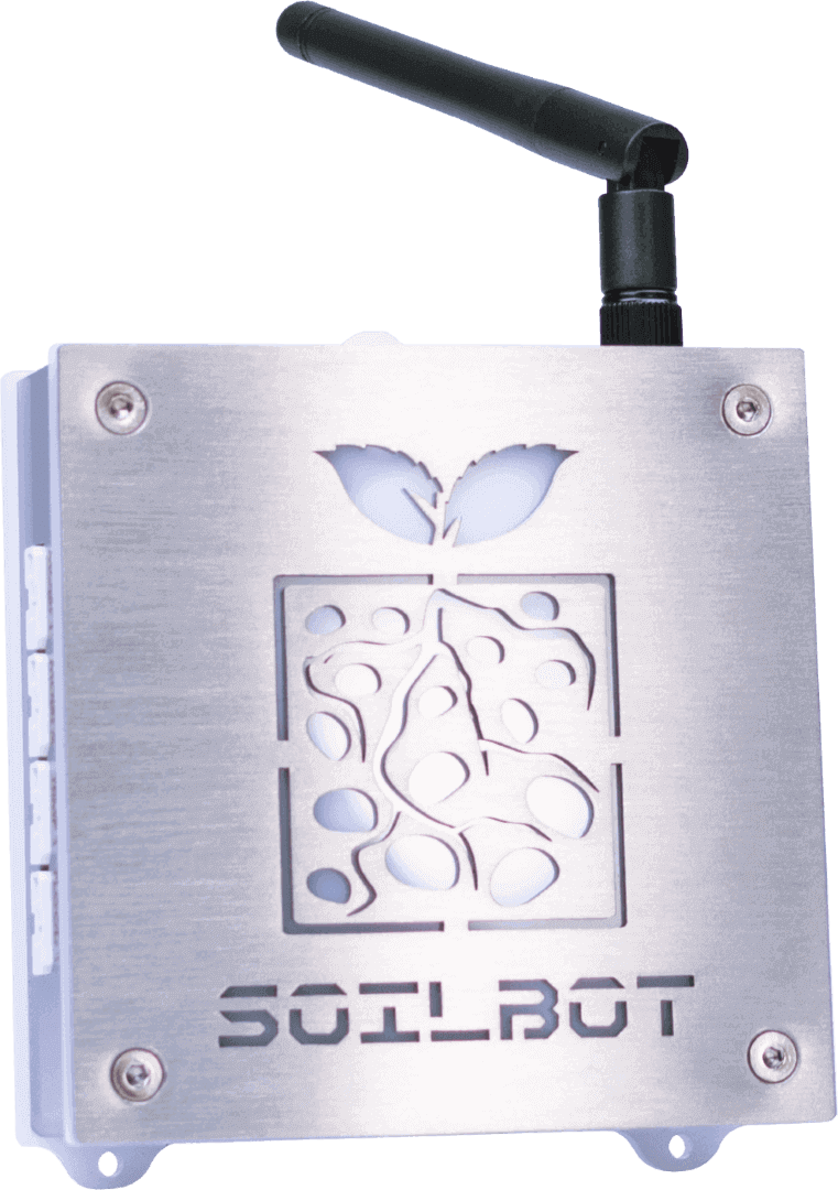 SoilBot, the soil analyzer and flood preventor module from GroLab grow controller system.
